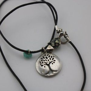 Fossil Tree of Life Charm Necklace